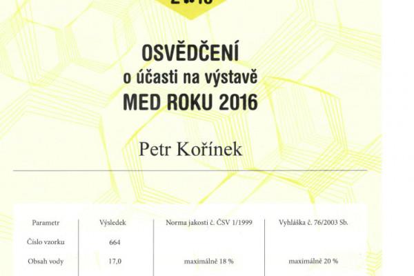 Med roku 2016