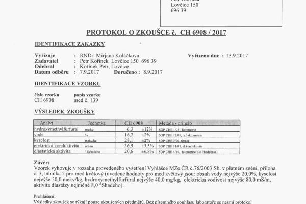Med roku 2017 protokol